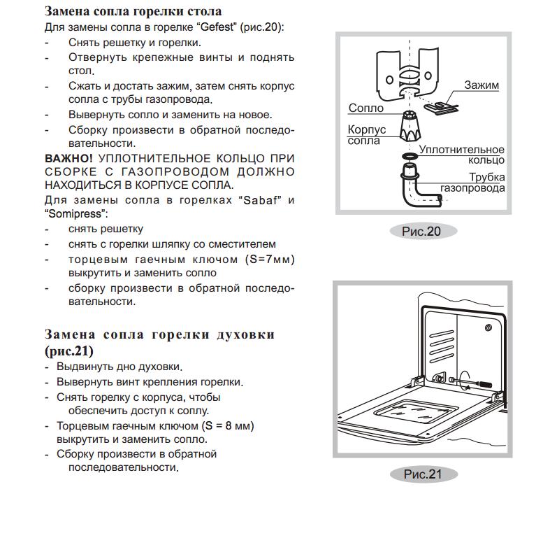 Схема замены жиклеров